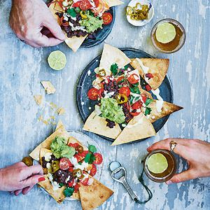 Loaded Nachos with Spicy Black Beans, Nacho Cheese Sauce and Salsa - Chef Recipe with Gaz Oakley