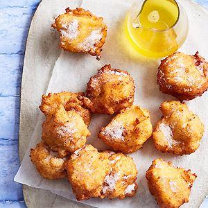 Sweet Ricotta Fritters with Orange Honey Syrup
