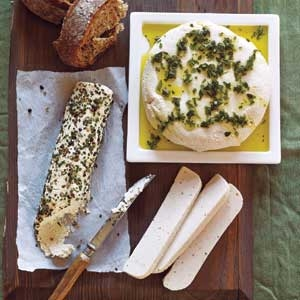 Almond 'Feta' Cheese with Herb Oil