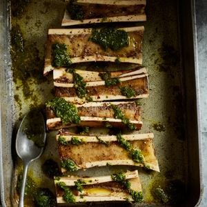Roasted Bone Marrow with Chimichurri by Scott Gooding