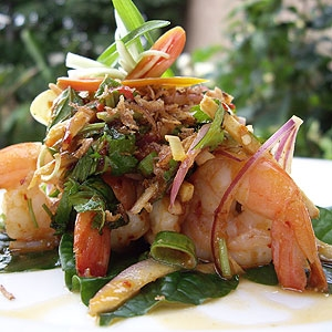 Seared Prawns with Ginger & Lemongrass