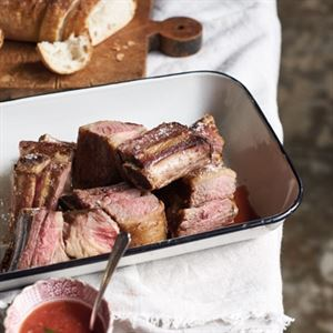 Barbequed Short Ribs with Tomato Salsa by Ross Dobson and Rachel Tolosa Paz