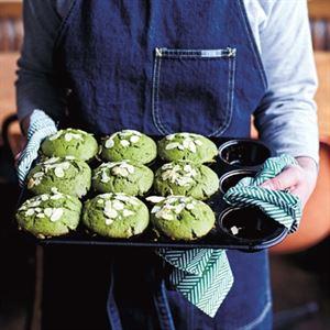 Green Tea Muffins with Sweet Azuki Beans by Meg & Zenta Tanaka