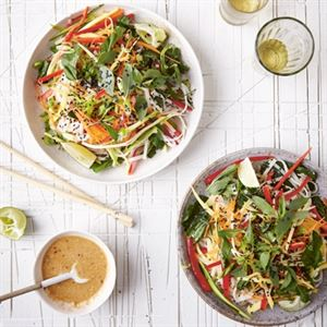 Spicy Thai Noodles with Creamy Peanut Dressing by Bettina Campolucci-Bordi