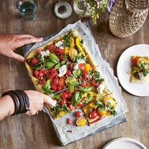 Hazelnut Crust Pizza and Peppery Rocket by Bettina Campolucci-Bordi