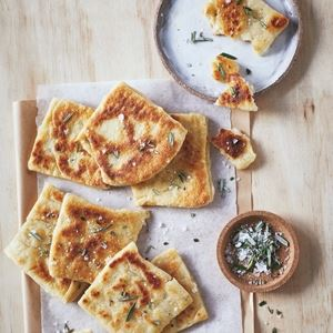 Rosemary and Sea Salt Flatbreads by Byron Smith and Tess Robinson