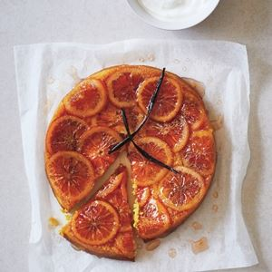 Upside-Down Blood Orange and Turmeric Cake by Byron Smith and Tess Robinson