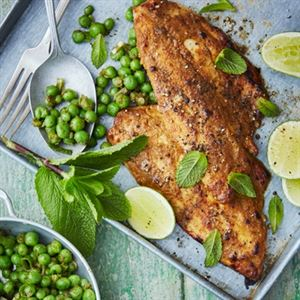 Tandoori Sea Bream with Minted Peas by Anjum Anand