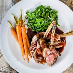 Rack of Lamb with Pinot Noir Sauce - Chef Recipe by Jack Stein