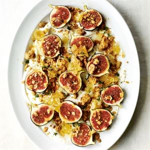 Figs with Yoghurt, Honey and Roasted Barley Crumble - Chef Recipe by Gill Meller