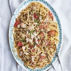 Linguine with Crab and Cream by Katie and Giancarlo Caldesi