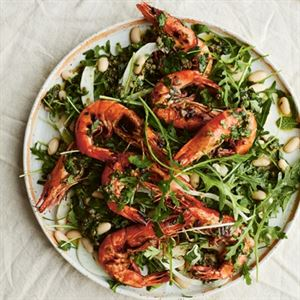 Charred Prawns, Cannellini Beans and Fennel by Jessica Elliott Dennison