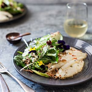 Pan-fried John Dory with Green Salad