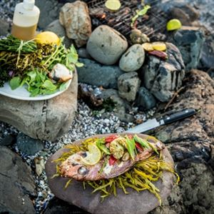 South Coast Snapper with Charred Vegetables and Beach Greens - Chef Recipe by Nicola Coccia