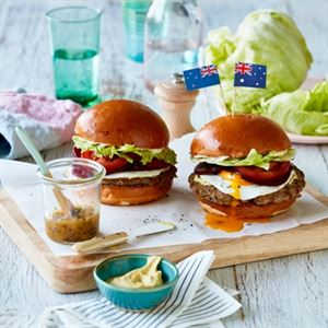 Mint-as Burger with Kiwifruit Ketchup