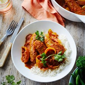 Beef Sausages in Onion Curry by Adam Liaw