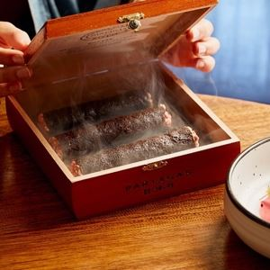 Black Sesame and Chocolate Cigars with Dulce de Leche Mousse - Chef Recipe by Stephen Hogan