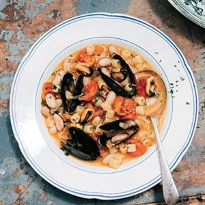 Ditalini Pasta with Mussels and Beans by Emiko Davies