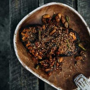 Charcoal Roasted Whole Stuffed Pumpkin - Chef Recipe by Cooper Thomas