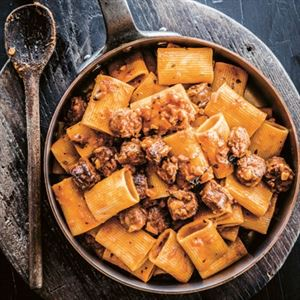 Paccheri Pasta with Pork Sausage - Chef Recipe by Guy Grossi