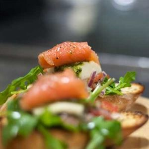 Bruschetta con Salmone - Chef Recipe by Shane McNally
