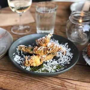 Crispy Zucchini Flowers with Goats Cheese - Chef Recipe by Kevin Rhind