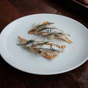 Sicilian White Anchovy Crostini - Chef Recipe by Bruno Conti