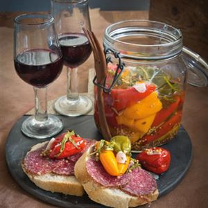 Pickled Capsicum with Salami Baguette - Chef Recipe by Stevan Paul