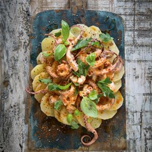 Festival Squid with Potatoes - Chef Recipe by Stevan Paul
