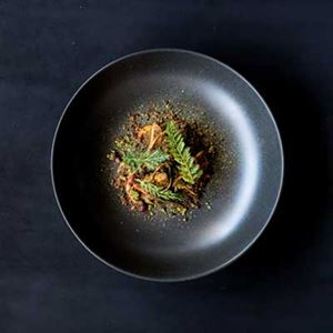 Braised Wallaby Tail and Wild Pine Mushrooms - Chef Recipe by Simon Evans and Thomas Chiumento
