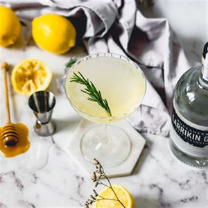 Lemon and Manuka Honey Gin Fizz