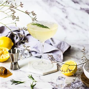 Lemon and Manuka Honey Gin Fizz