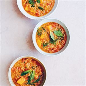 Red Lentil, Pumpkin and Lime Pickle Soup - Chef Recipe by Ross Dobson