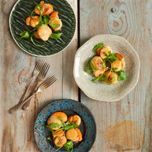 Scallops in Malted Butter Sauce by Angela Clutton