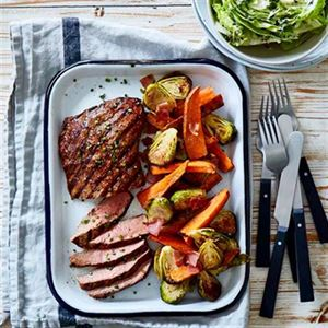 Harissa Steak with Roasted Vegetables