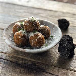 Black Truffle, Wild Mushroom and Taleggio Arancini - Chef Recipe by Kevin Rhind