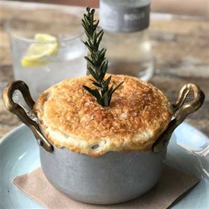 Lamb Pie, with Lentils, Spinach, Truffle and Porcini - Chef Recipe by Carlo Calautti