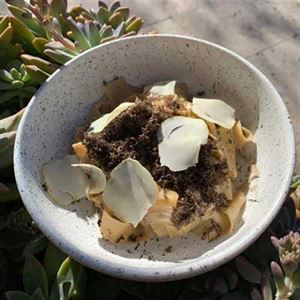 Rabbit, Pappardelle, Chestnut and Black Truffle - Chef Recipe Thomas Boyd
