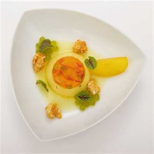 Saffron, Almond and Pistachio Panna Cotta with Puffed Rice Honeycomb - Chef Recipe by Vikrant Kapoor