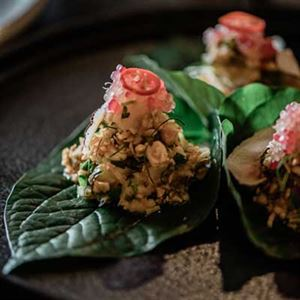 Lobster Betel Leaf - Chef Recipe by Oak Kunnalok