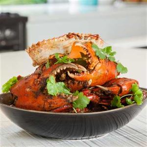 Steamed Mud Crabs, with Ginger, Chilli and Shallot Sauce - Chef Recipe by Peter Kuruvita