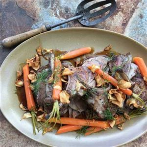 Hogget Kitchen Lamb with Grilled Summer Vegetables - Chef Recipe by Trevor Perkins