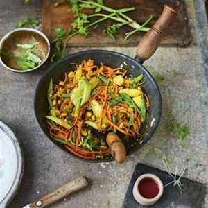 Golden Vegetable Stir Fry