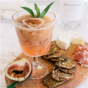 Pink Gin Fig Cocktail