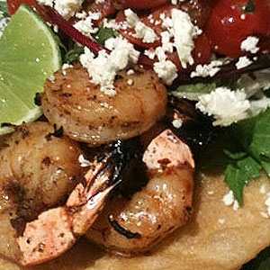 King Prawn Huaraches (Corn Tortillas)