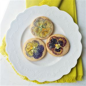 Mum's Candied Flower Sugar Biscuits - Chef Recipe by Curtis Stone