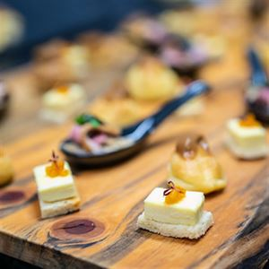 Goats' Cheese Panna Cotta with Saffron Candy Apples - Chef Recipe by Jason Ludwig