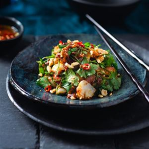 Salad of Scallops, Lime, Soy and Chilli Dressing - Chef Recipe by Dan Jarrett