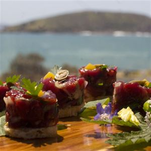 Kangaroo Tartare with Capers, Parsley and Crispy Bread - Chef Recipe by Loic Prouin