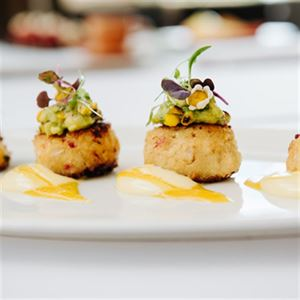 Moreton Bay Crab Cakes with Avocado and Corn Salsa - Chef Recipe by Andrew Fraser